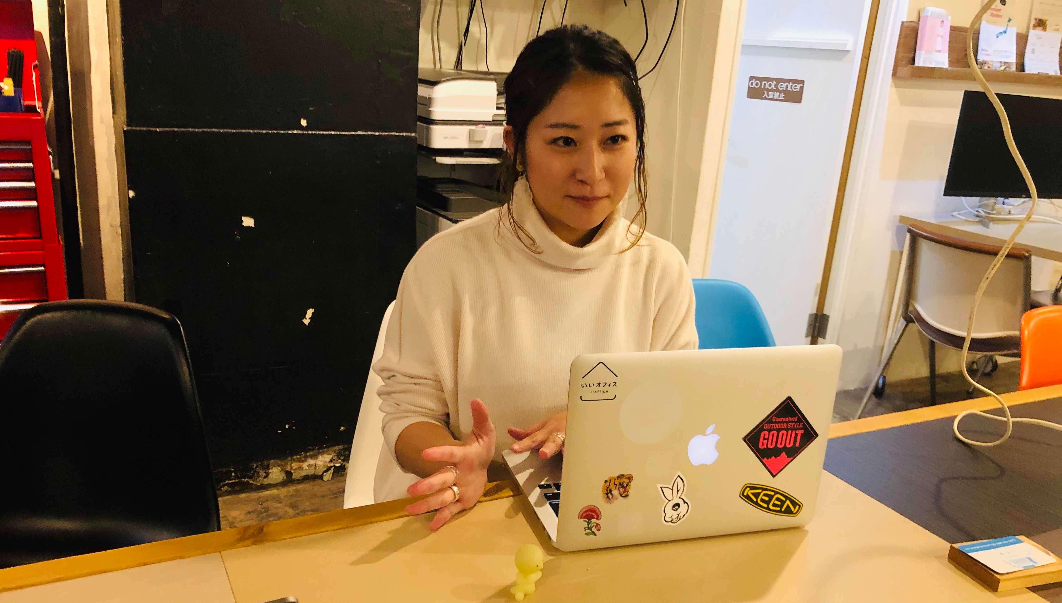コワーキングスペース「いいオフィス」 広報部の今田さん